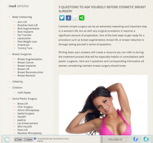 Plastic Surgery Content Marketing Articles