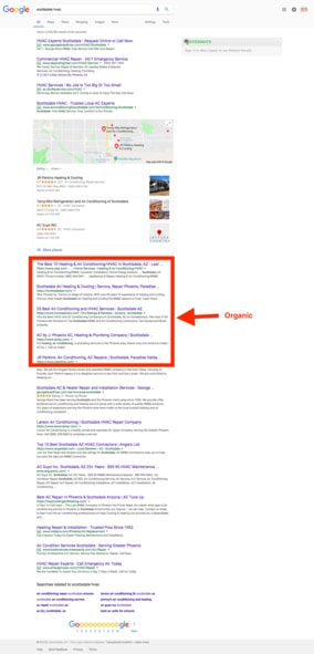 First Page Results Google